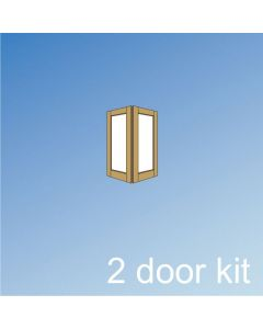 Barrierfold 2 Door Kit - Inward Opening, Over 2400mm