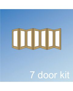 Barrierfold 7 Door Kit - Outward Opening, Under 2400mm