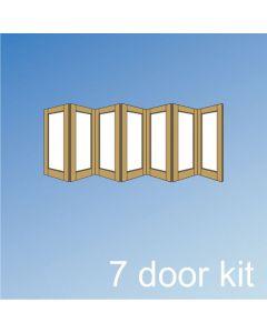 Barrierfold 7 Door Kit - Inward Opening, Under 2400mm