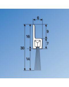 """h"" Profile Brush Strip - 2100mm"