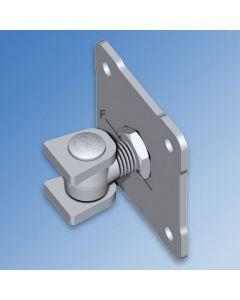 Adjustable Galvanised RHS Hinge with Fixing Plate