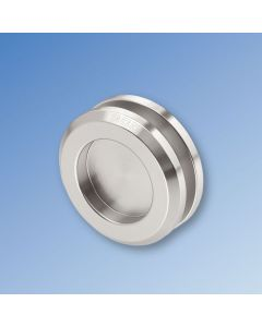Pair of 65mm Round Flush Pull Handles - SNK Finish