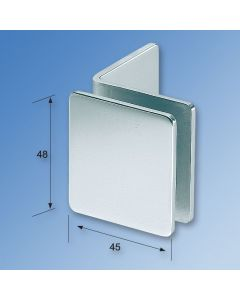 Wall Mount 90° Glass Clamp GX45.1L