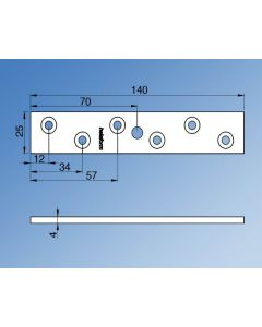 PPS 150 Top Fixing Plate