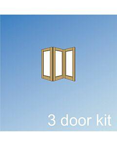 Vistafold 3 Door Kit - Silver