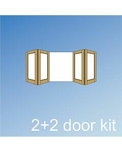 Vistafold 2+2 Door Kit - Silver