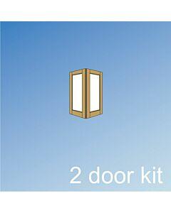 Barrierfold 2 Door Kit - Inward Opening, Under 2400mm