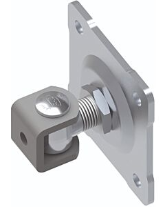 Adjustable Galvanised RHS Hinge with Bracket and Fixing Plate