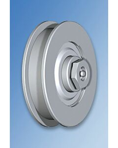 "Galvanised Wheel With Bearings ""U"" Groove and Axle Lubrication Point"