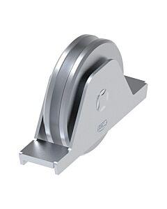 "Galvanised Wheel With Internal Support Bracket ""U"" Groove"