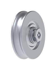 "Galvanised Wheel With Bearing ""1/2 Round"" Groove and Axle Lubrication Point"