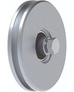 """Galvanised Wheel With Bearings """"U"""" Groove"""
