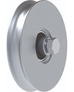 "Galvanised Wheel With Bearings ""1/2 Round"" Groove"