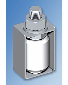White Nylon Guide Roller with 2 Nuts - M Variants