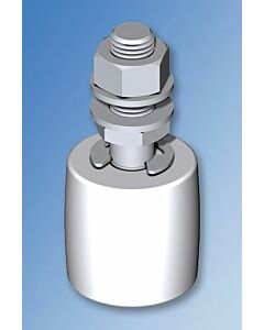 White Nylon Guide Roller with 2 Nuts - 119