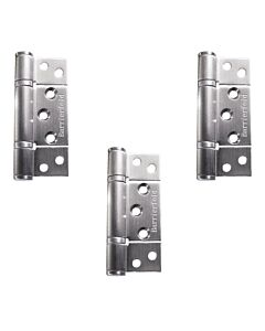 Barrierfold  3 Hinge Set - Satin Stainless