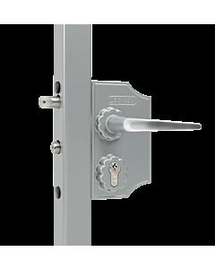 Ornamental Gate Lock - Silver