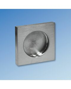 Square Flush Pull Handles - Adhesive Fix - Pair
