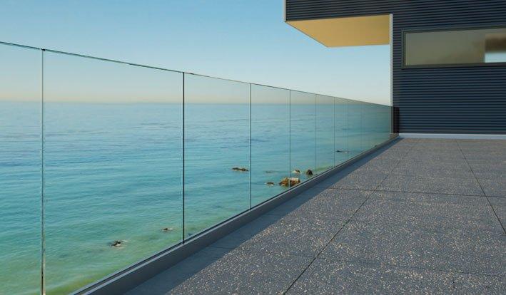Frameless Glazing Systems : Barrier sabco frameless glass balustrade systems